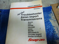 Snap On MT2500 Troubleshooter Asian Imports Transmissions User's Manual Vol1 01