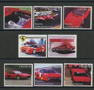 Ferrari Automobile Racing mnh set of 8 stamps Turkmenistan