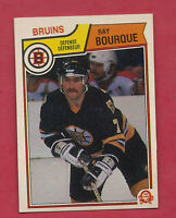 1983-84 OPC # 45 BRUINS RAY BOURQUE NRMT CARD