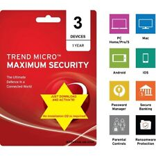 Trend Micro Maximum Security 2021 - 3 Devices/1 Year (DLC - download content)