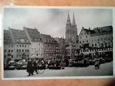 Ansichtskarte Nürnberg Sebalduskirche Adolf Hitler Platz überstrichen ungelaufen