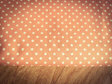 Shabby Chic Peach Colour Spots 100% Cotton Fabric. Price per 1/2 meter