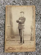 Original Cabinet photo of vermont officer wearing kepi and sword