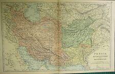 1894 Antique Map ~ Persia Afghanistan & Baluchistan Khorassan