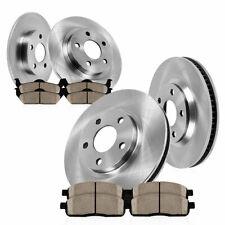 Front + Rear Brake Rotors Ceramic Pads For 2001 2002 - 2007 Town Country Caravan