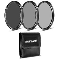 Neewer 3pcs 77mm ND Filter Set ND2 ND4 ND8 for Canon EOS 6D 5D Mark III