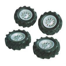 Rolly Toys 409181 Luftbereifung, Reifenset zu Unimog,  (310x95) Felge Silber