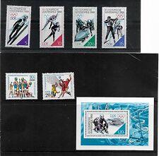 Alemania Oriental 1988 Juegos olímpicos invierno conjunto de menta SG E2843/8 ref 1160