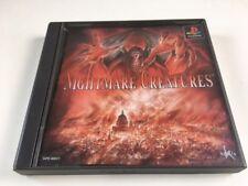 Playstation PS1 NIGHTMARE CREATURES JAPAN JP GAME z3497