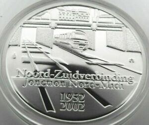 Belgium 10 Euro 2002, silver Belgian Railways System, original folder,sealed