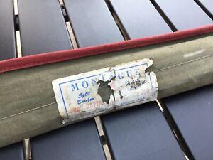 Vtg Montague Rapidan Split Bamboo Rod 5 1/2 Original w/canvas Tube