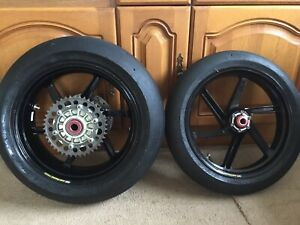 """Honda CBR1000 RR Magnesium MARCHESINI Forged Race Wheels HRC BSB Plater 16.5"""""""