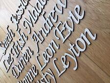 I nomi degli Script Lettere Parole Personalizzato Di Natale Matrimonio LIBRO ARTE IN LEGNO BETULLA