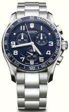 NEW Victorinox  Swiss Army 241497 Chrono Classic Chronograph Blue  stainless