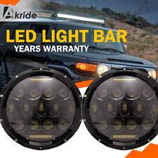 "2x 7"" Inch LED Round Headlights DRL Hi/Lo Beam For 07-14 Toyota FJ Cruiser"