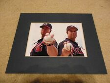 """Greg Maddux and Tom Glavine Autograph 5"""" x 7"""" Color Photo Matted"""