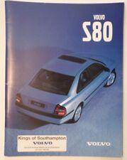 VOLVO S80 SALOONS orig 1998 UK Mkt Prestige Sales Brochure