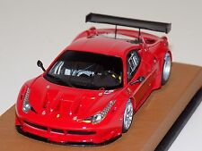 1/43 Looksmart Ferrari 458 Italia GT2 Rosso Corsa on a Leather Base