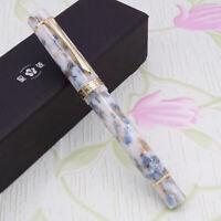 LIY Marble Resin Acrylic Fountain Pen Schmidt Nib & Converter F Gift Box-Baiju