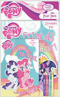 My little Pony Play Pack Colouring Pads Pencils Childrens Activity Set Girls