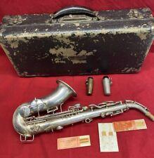 Vintage 1923 C.G. Conn Elkhart IND Saxophone Serial # 121074L With Original Case