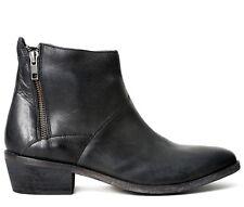 HUDSON Boots shoes Botte Bottine Fop Black Leather UK 7 EUR 40 US 9 (rrp:149€)