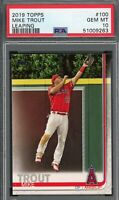 Mike Trout Los Angeles Angels 2019 Topps Baseball Card #100 PSA 10 GEM MINT