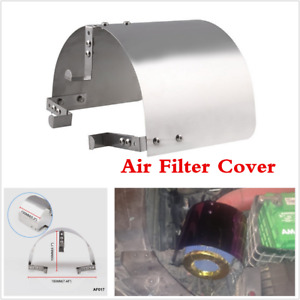 """2.5'' - 5.5"""" Universal Cone SS304 Car Truck Heat Shield Air Intake Filters Cover"""