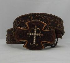 Tony Lama SOUTHWEST CROSS Leather  Belt Size 32  NWT  C50585