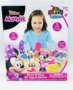 Minnie Mouse Kids Mold N Play 3D Figure Maker Cra-Z-Art Softee Dough New In Box