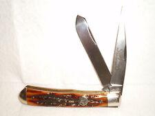 Queen Sharp Fans Club Knife  Trapper Wharncliff Spey ACS Bone   D2 Tool Steel