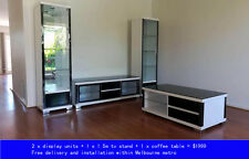 gloss black white collection | 2x display unit + 1x Tv stand + 1x coffee table