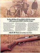1973 Print Ad of Marlin Model 99C .22 Long Rifle rabbit hunting