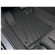 Black Rubber High-Wall All Season Floor Mat Set Genuine Fits Honda Accord 2018