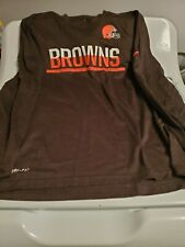 Cleveland Browns NFL Nike Dri-Fit Long Sleeve Tee Size Mens Medium used
