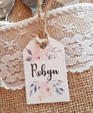 Personalised wedding place cards name cards. Floral design. Elegant. x 10