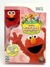 2010 Wii Sesame Street Elmo A To Zoo Adventure Video Game Red Remote Cover J932