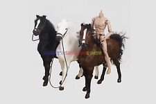 """3 x New 1/6 Scale War Battle (3 Colors) Horse For 12"""" Action Figure WWII Soldier"""