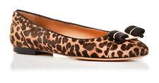 Salvatore Ferragamo Women's Varina Ballet Flats Size 6 Leopard Print Calf Hair