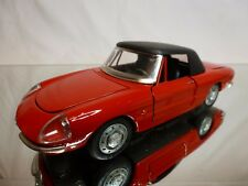 TOGI 9/68 ALFA ROMEO SPIDER + CLOSED TOP - RED 1:23 - VERY GOOD CONDITION