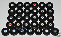 HOCKEY PUCKS ALL 31 NHL TEAMS Small Logo Set InGlasCo Full-Sized Puck Set VEGAS