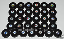 HOCKEY PUCKS ALL 31 NHL TEAMS Small Logo Set InGlasCo Full-Sized Puck Set VEGAS