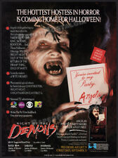 NIGHT OF THE DEMONS__Orig.1989 Trade print AD / horror vid promo__LINNEA QUIGLEY