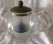 Bodum Assam Tea Press with Glass Handle and Coloured Plastic Lid, 1L, 2 Pints