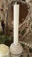 Bougeoir Porte-Bougie Kugelhupf Blanc Noël Shabby Vintage Déco 7,5x3cm