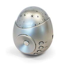 Galaxy Star Projector Light Sound Machine Baby Kids Nursery Night Glow Silver