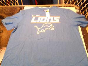 Detroit Lions NFL Team Apparel  shirt  XXL blue
