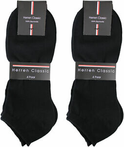 12 Paar Herren Sneaker Socken 100% Baumwolle  uni schwarz Komfortbündchen