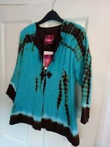 NOMADS FAIR TRADE CLOTHING JACKET / TOP SIZE MEDIUM RRP £35 HIPPY FESTIVAL
