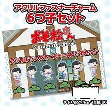 Osomatsu san Acrylic Charm Animate Cafe Zipper Charm Set Brand New Free Shipping
